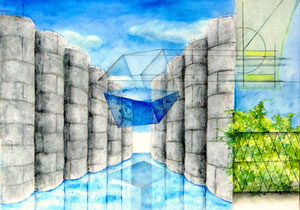 Layered Landscape -屹立する貯水槽- W515×D364㎜