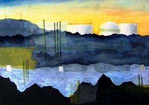 Layered Landscape -愚かな凍土- W515×D364㎜