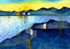 Layered Landscape -刹那の岸辺- W515×D364㎜