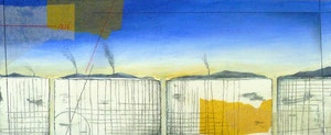 Layered Landscape(「拡散」のためのマケット) W305×D125㎜