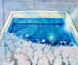 Poolの桜 W455×D380㎜