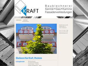 Handwerksmarketing, Blechnerei, kleine Website für einen Handwerksbetrieb, Logoentwicklung und Geschäftsausstattung