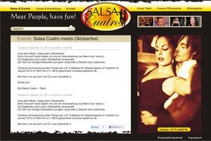 Homepage Layout für eine Tanzschule, Modifikation des Logos bzw. Signets