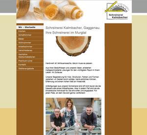 Handwerksmarketing, Schreinerei, kleine Website für einen Handwerksbetrieb, Logoentwicklung und Geschäftsausstattung, Fotografie