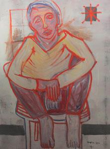 Hervé dans la lumière, 160 cm x 130 cm. 2016 2019