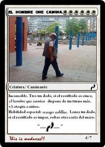 Carta El hombre que camina