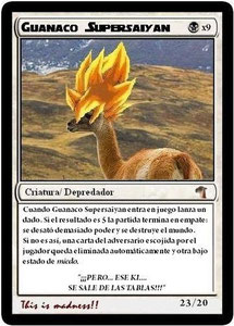 Carta Guanaco Supersaiyan
