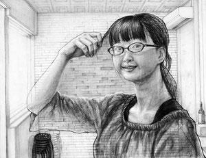 N.Yさん作 自画像と手の構成デッサン