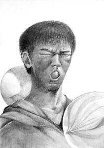Y.Tさん作 自画像+球体のイメージデッサン