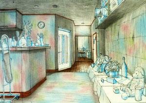 K.Tさん作 室内パース画