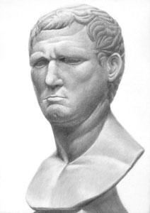 Y.Tさん作 石膏像(アグリッパ)デッサン