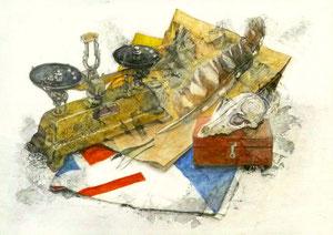F.Hさん作 鉛筆淡彩による細密描写