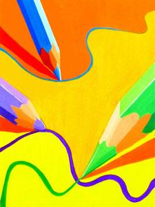 N.Nさん作 鉛筆をモチーフとした色彩構成