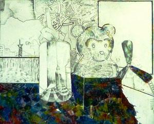 M.Tさん作 静物構成アクリル・油彩画