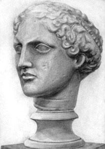 Y.Nさん作 石膏像(ラボルト)デッサン