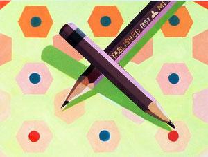 S.Kさん作 色彩構成(鉛筆)