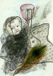 N.Mさん作 鉛筆淡彩による細密描写