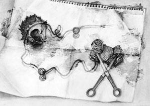 J.Iさん作 鉛筆による細密描写