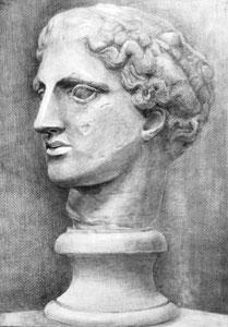 A.Mさん作 石膏像(ラボルト)デッサン