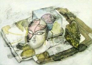 Y.Kさん作 鉛筆淡彩による細密描写