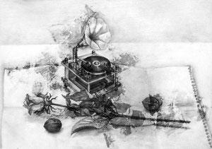 M.Nさん作 鉛筆による細密描写