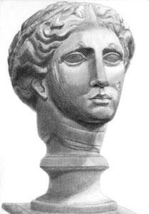 I.Yさん作 石膏像(ラボルト)デッサン