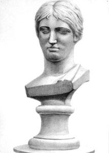 Y.Tさん作 石膏像(ギリシャ少女像)デッサン