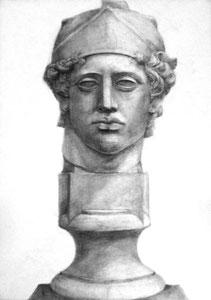 A.Mさん作 石膏像(青年マルス)デッサン