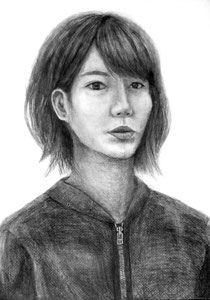 A.Nさん作 自画像デッサン