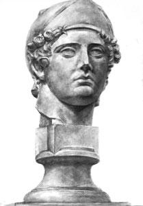 T.Fさん作 石膏像(青年マルス)デッサン