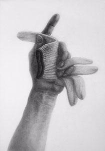 I.Jさん作 「手と軍手」の構成デッサン