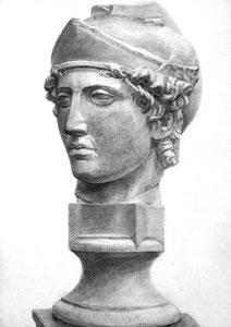 H.Hさん作 石膏像(青年マルス)デッサン