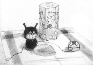 Y.Kさん作 静物デッサン(中3生)