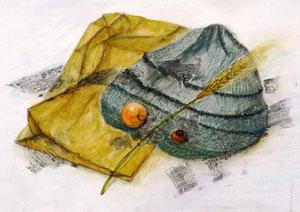 J.Iさん作 鉛筆淡彩による細密描写