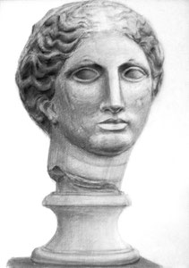 S.Kさん作 石膏像(ラボルト)デッサン