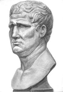 N.Mさん作 石膏像(アグリッパデッサン