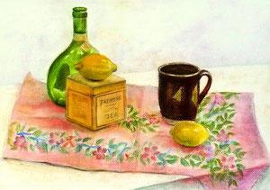 E.Iさん作 静物パステル画