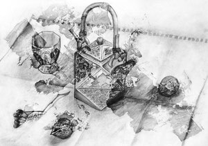 T.Kさん作 鉛筆による細密画