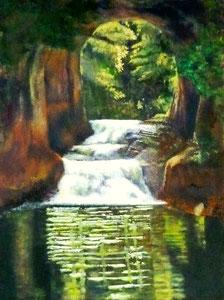 Y.Hさん作 風景油彩(濃溝の滝)