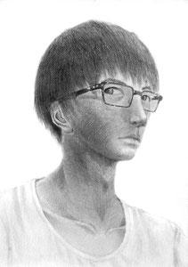 R.Iさん作 自画像デッサン