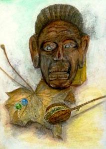 T.Kさん作(当教室最年長の88歳) 鉛筆淡彩による細密描写