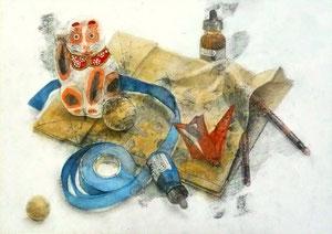 H.Hさん作 鉛筆淡彩による細密描写