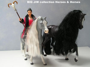 A Barbie Champion horse in the background for the size comparison
