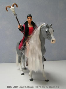 The female wizard has the perfect size to BIG JIM figures