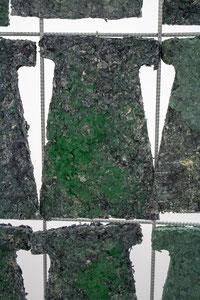 Britta Frechen _Heckengestell Nr.3_2019_Aluminium, Stahl, Pappmache, Pigment_185 x 50 x 70 cm_b_Detail