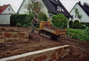 Korfmacher Gärten: Baustelle im Rohzustand