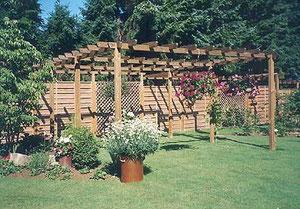Korfmacher Gärten: Pergola, der neue Sonnenplatz ist fertig