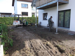 Korfmacher Gärten Terrassenbau Gartenneubau vorher