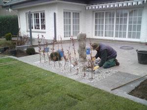 Korfmacher Gärten: Letzter Schliff für die neue Terrasse