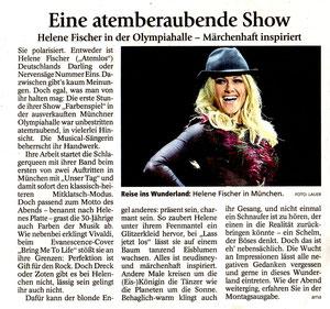 Helene Fischer, Fürstenfeldbrucker Tagblatt, 31.10.2014